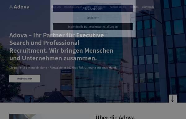 Vorschau von www.adova.ch, Adova Personalberatung & Executive Search AG
