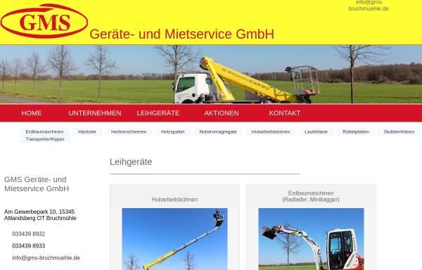 Vorschau von www.gms-bruchmuehle.de, GMS Geräte- und Mietservice GmbH
