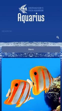 Vorschau der mobilen Webseite www.aquarium-ob.de, Sealife Aquarium Oberhausen