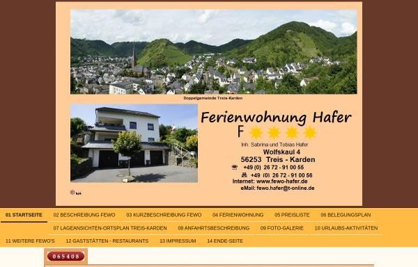 Vorschau von www.fewo-hafer.de, Ferienwohnung Hafer