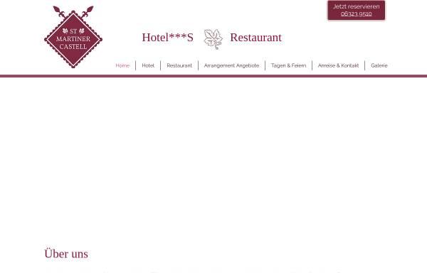 Vorschau von www.martinercastell.de, Hotel-Restaurant St. Martiner Castell