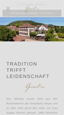 Vorschau der mobilen Webseite www.weingutgernert.de, Weingut Gernert