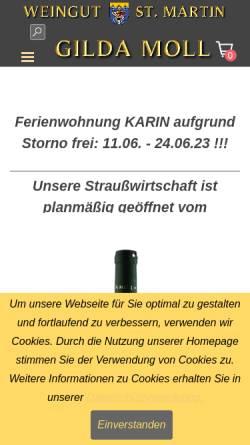 Vorschau der mobilen Webseite www.weingut-gilda-moll.de, Weingut Gilda Moll