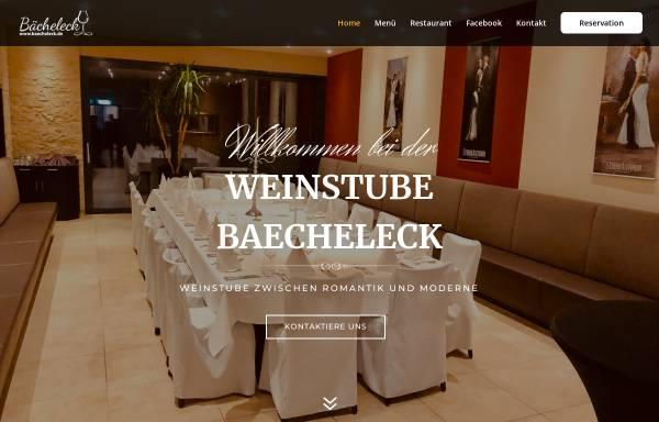 Vorschau von www.baecheleck.de, Weinstube Bächeleck