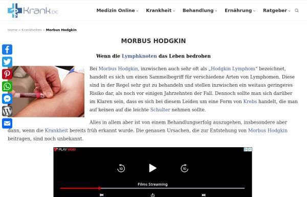 Vorschau von www.morbus-hodgkin.de, Selbsthilfegruppe Morbus Hodgkin