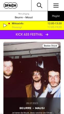 Vorschau der mobilen Webseite www.3fach.ch, Radio 3fach