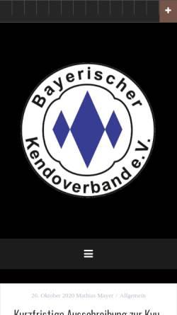 Vorschau der mobilen Webseite www.bkenv.de, Bayerischer Kendoverband e.V.