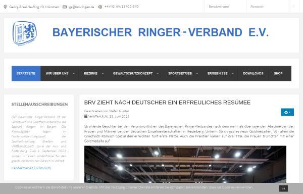 Vorschau von www.brv-ringen.de, Bayerischer Ringer-Verband (BRV)