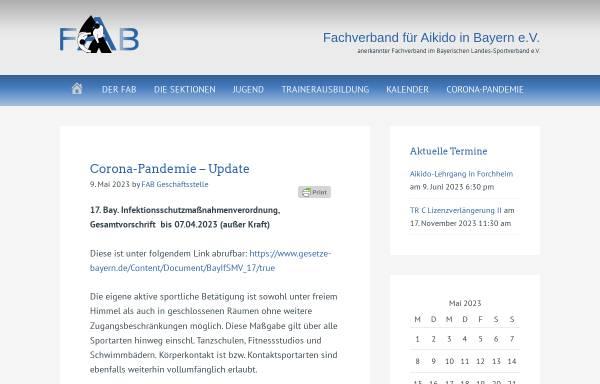 Vorschau von www.aikido-fab.de, Fachverband für Aikido in Bayern (FAB)