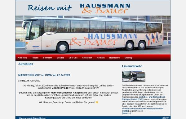 Vorschau von www.haussmann-bauer-reisen.de, Haussmann & Bauer Omnibusverkehr GmbH & Co KG