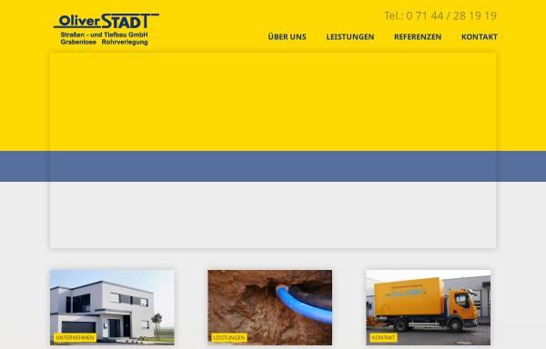 Vorschau von www.oliver-stadt.de, Oliver Stadt - Strassen- und Tiefbau
