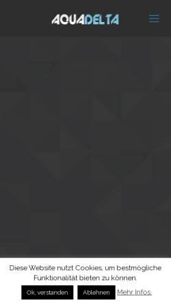 Vorschau der mobilen Webseite aquadelta-privat.de, Ferien im Ferienpark Aquadelta