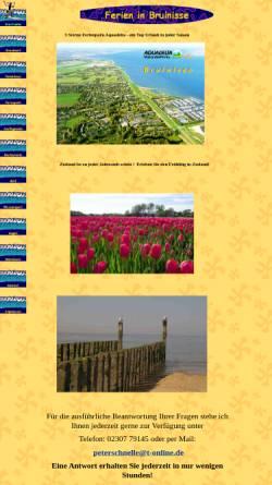 Vorschau der mobilen Webseite www.zeeland-urlaub.de, Ferienhaus in Bruinisse - Aquadelta