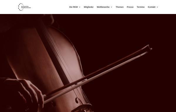 Vorschau von www.die-deutschen-musikhochschulen.de, Rektorenkonferenz der Musikhochschulen in der Bundesrepublik Deutschland