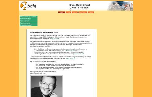 Vorschau von www.xtrain.de, Xtrain - Martin Erhardt