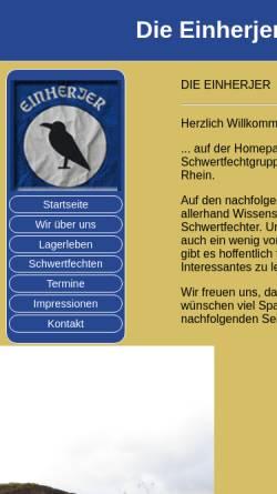 Vorschau der mobilen Webseite www.dieeinherjer.de, Die Einherjer