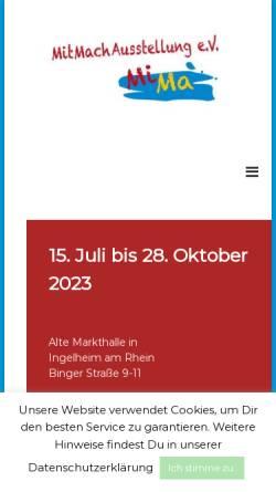 Vorschau der mobilen Webseite www.mima-ingelheim.de, MiMa Ingelheim