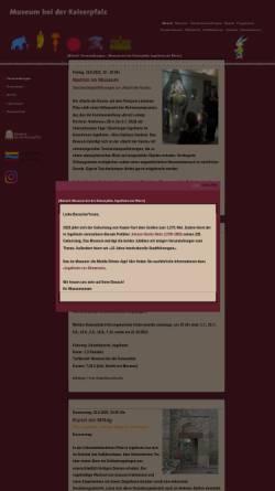 Vorschau der mobilen Webseite www.museum-ingelheim.de, Museum bei der Kaiserpfalz