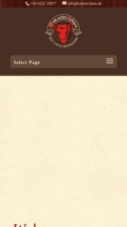 Vorschau der mobilen Webseite www.roterochsen.de, Zum Roten Ochsen