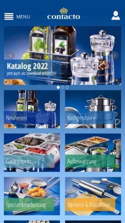 Vorschau der mobilen Webseite www.contacto.de, Contacto Bander GmbH