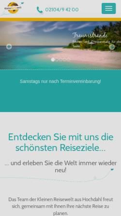 Vorschau der mobilen Webseite www.kleine-reisewelt.de, Kleine Reisewelt