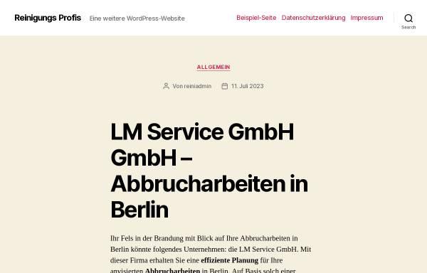 Vorschau von www.reinigungs-profis.de, Reinigungs-Profis - Gebäudereinigung David Tuschinski