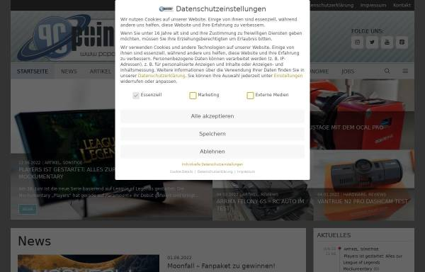 Vorschau von www.pcpointer.de, PCPointer.de