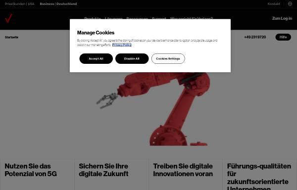 Vorschau von enterprise.verizon.com, Verizon Deutschland GmbH