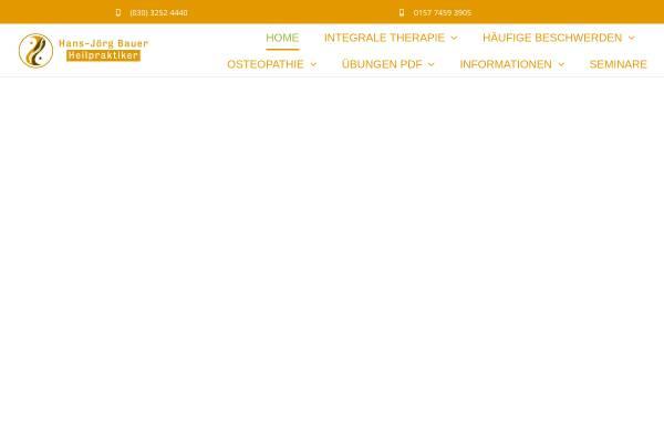 Vorschau von www.heilpraxisbauer.de, Hans-Jörg Bauer