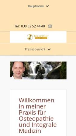 Vorschau der mobilen Webseite www.heilpraxisbauer.de, Hans-Jörg Bauer