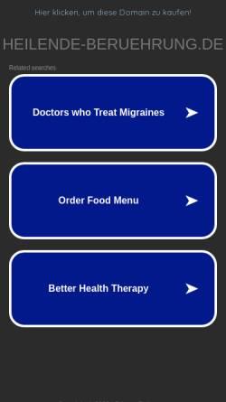 Vorschau der mobilen Webseite www.heilende-beruehrung.de, Heilende Berührung