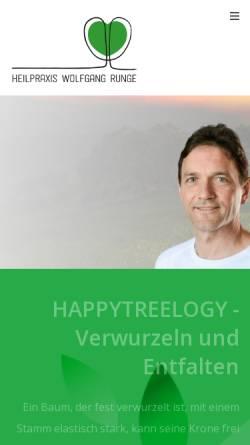 Vorschau der mobilen Webseite w-runge.de, Heilpraxis Wolfgang Runge