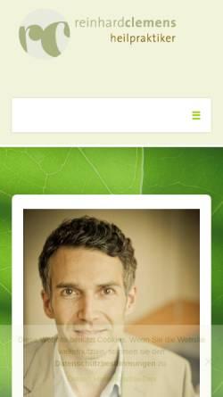 Vorschau der mobilen Webseite www.rc-naturheilpraxis.de, RC Naturheilpraxis Reinhard Clemens