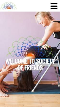 Vorschau der mobilen Webseite societyoffriends.de, Society of Friends