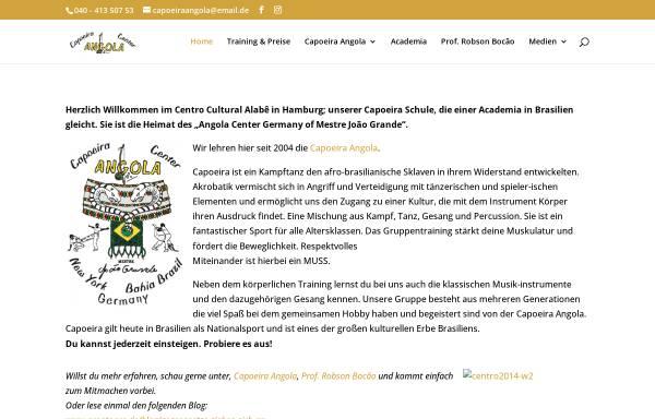 Vorschau von www.capoeira-angola-hamburg.de, Capoeira Angola Center Germany, Hamburg