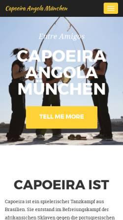 Vorschau der mobilen Webseite www.capoeira-angola-nigolo.tanzcult.net, Capoeira Angola München Nigolo e.V.