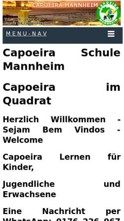 Vorschau der mobilen Webseite www.capoeira-ma.de, Gruppo A Senzala, Mannheim