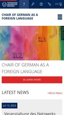 Vorschau der mobilen Webseite www.tu-dresden.de, TU Dresden