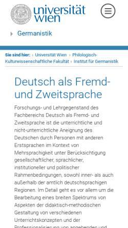 Vorschau der mobilen Webseite www.univie.ac.at, Universität Wien