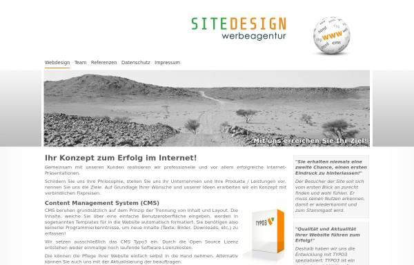 Vorschau von www.sitedesign.at, Wilfried Lettner