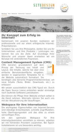 Vorschau der mobilen Webseite www.sitedesign.at, Wilfried Lettner