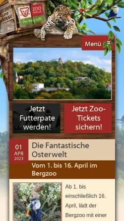 Vorschau der mobilen Webseite zoo-halle.de, Zoo Halle