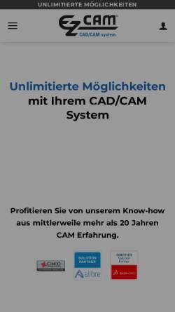 Vorschau der mobilen Webseite www.ez-cam.de, Ezcam Solutions GmbH