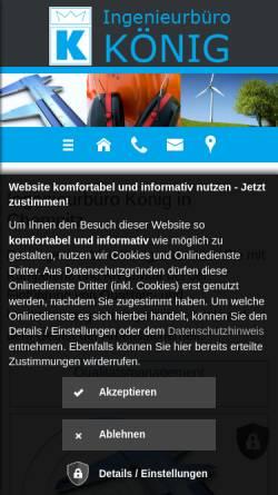 Vorschau der mobilen Webseite www.ibk-chemnitz.de, Ingenieurbüro König