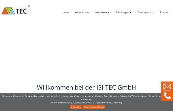 Vorschau von www.isi-tec.de, ISI-TEC Ingenieurbüro für Sicherheitstechnik Fischer