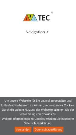 Vorschau der mobilen Webseite www.isi-tec.de, ISI-TEC Ingenieurbüro für Sicherheitstechnik Fischer
