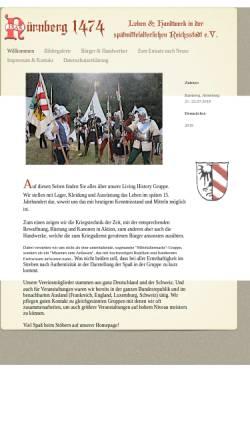 Vorschau der mobilen Webseite www.aufgebot1474.de, Nürnberger Aufgebot 1474