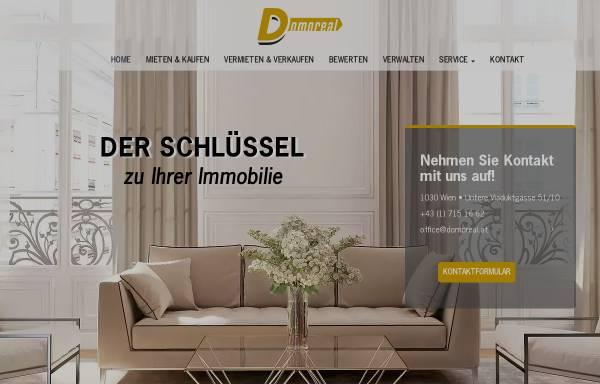 Vorschau von www.domoreal.at, Domo Gebäudeverwaltungs- und Realitäten GmbH