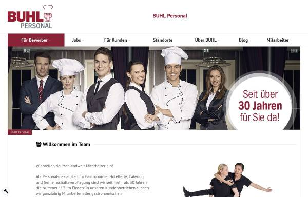 Vorschau von www.buhl-gps.de, Buhl Gastronomie-Personal-Service GmbH