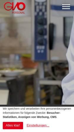 Vorschau der mobilen Webseite www.gvo-personal.de, GVO Personal GmbH